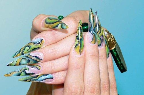 акриловые ногти дизайн фото