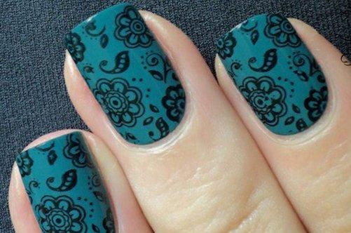 дизайн бирюзовые ногти фото