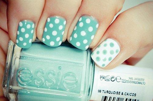 Фото дизайн ногтей горошек