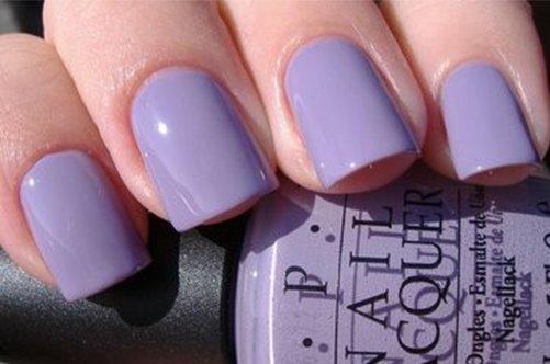 дизайн фиолетовых квадратных ногтей фото