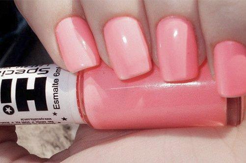 розовый дизайн квадратных ногтей фото