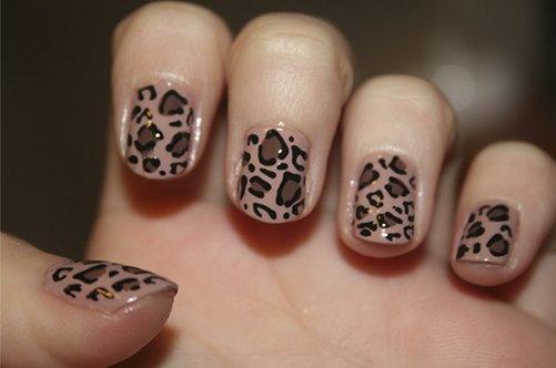 леопардовый дизайн ногтей фото