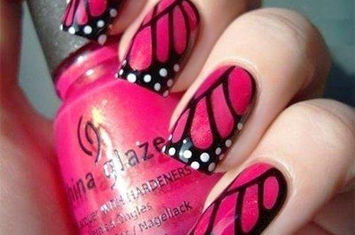 дизайн ногтей бабочки фото