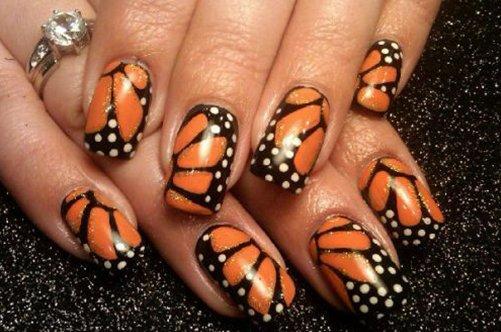бабочки дизайн ногтей фото