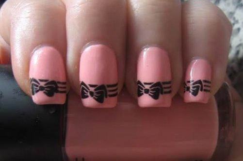 бантики дизайн ногтей фото