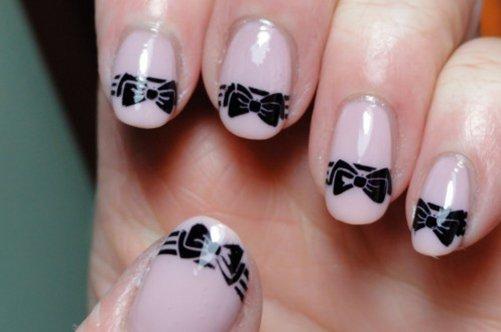 дизайн для ногтей бантики фото