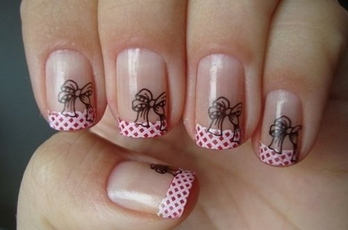 дизайн на ногтях бантики фото