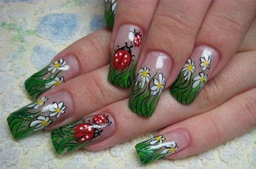 Дизайн с полосками для ногтей