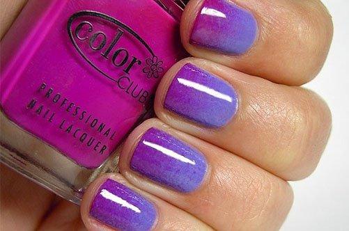 фиолетовый дизайн ногтей губкой фото