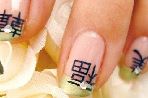 иероглифы на ногтях дизайн фото