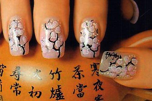 иероглифы дизайн ногтей фото