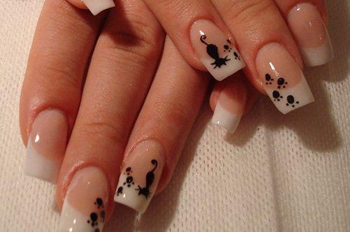 кошки дизайн ногтей фото