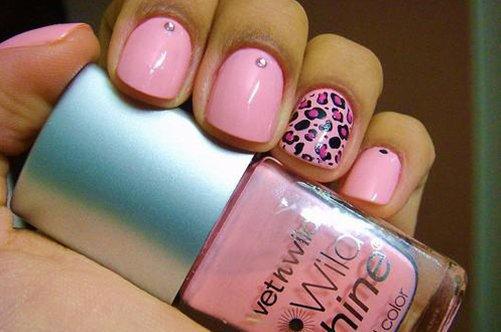 леопардовый дизайн для ногтей фото