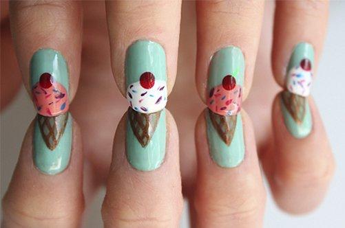 дизайн ногтей вишня фото