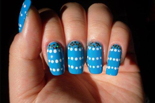 дотс для ногтей маникюр фото