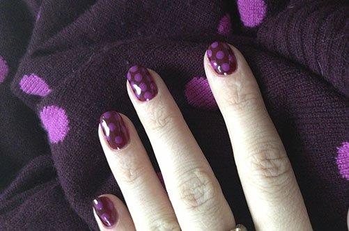 фиолетовый маникюр дотсом фото