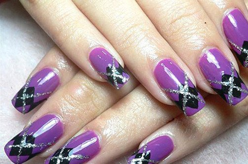 фиолетовый узор фото