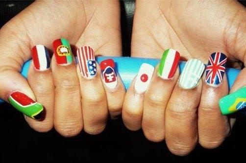 флаги на ногтях фото