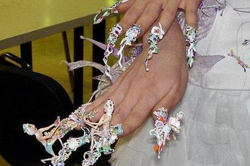 креативный скульптурный дизайн ногтей фото