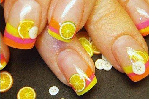 ногти с апельсинками фото