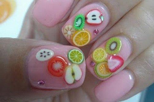 ногти с фруктами фото