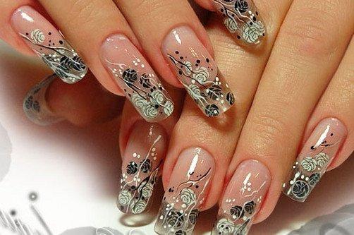 прозрачный дизайн ногтей фото