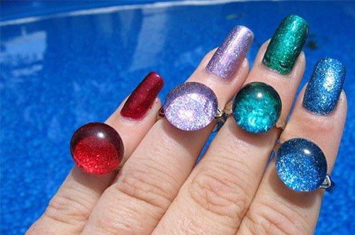 разноцветный ногти фото