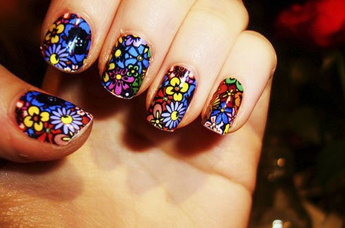 цветный ногти фото