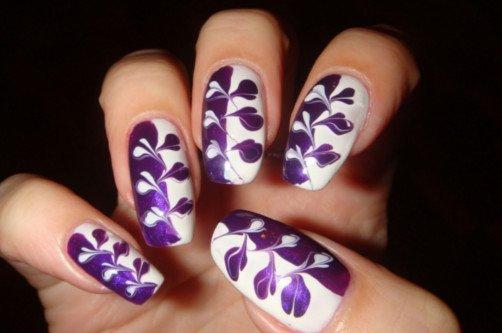 рисунок абстракция на ногтях фото