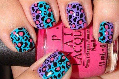 стильный леопардовый дизайн ногтей фото