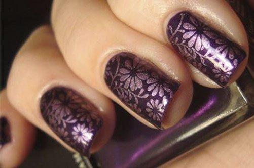 стильный дизайн ногтей с узором фото