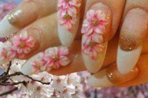 сухоцветы на ногтях фото