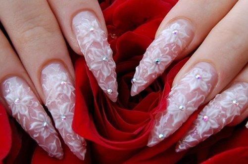 дизайн ногтей на свадьбу фото