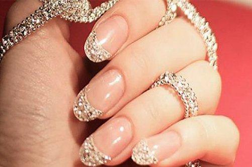 простой свадебный дизайн ногтей фото