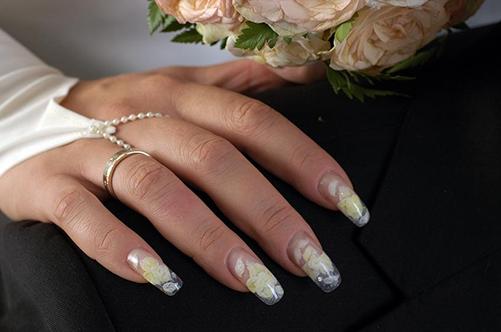 свадебный дизайн натуральный френч фото