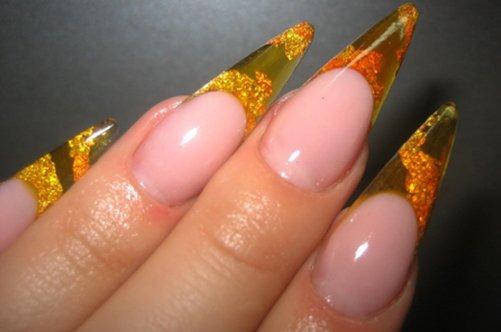 витражный дизайн ногти фото