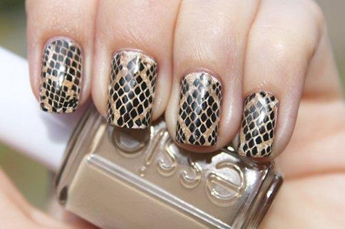 красивый змеиный дизайн ногтей 2013 фото