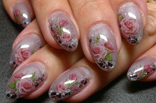 цветы дизайн ногтей на последний звонок фото
