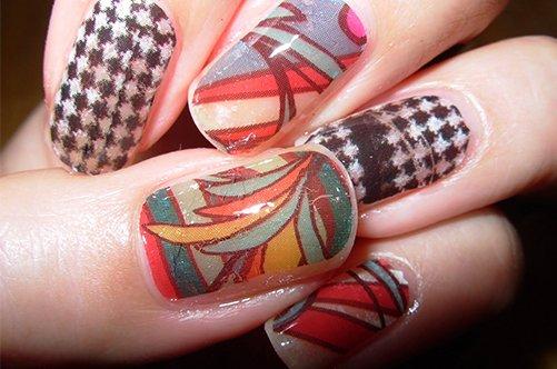 дизайн ногтей на последний звонок с узорами фото