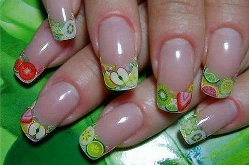 фруктовый дизайн гелевых ногтей 2013 фото