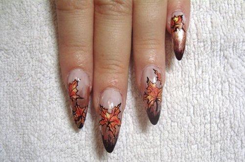 дизайн гелевых ногтей осень 2013 в домашних условиях фото