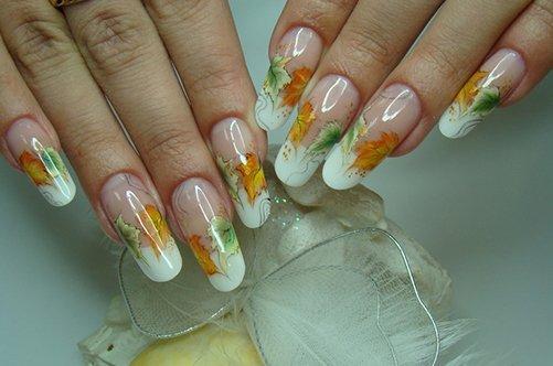 аквариумный дизайн на гелевых ногтях осень 2013 фото