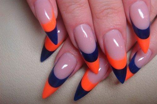 дизайн острых гелевых ногтей осень 2013 фото