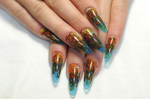 осенний дизайн гелевых ногтей 2013 фото
