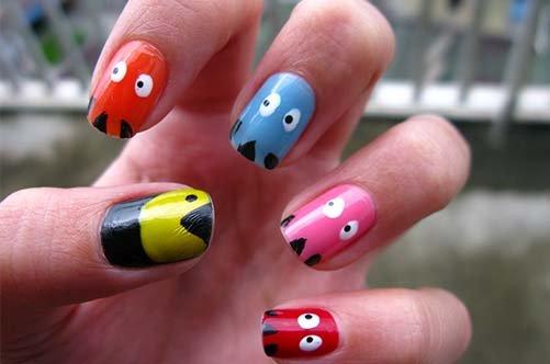 забавный дизайн коротких ногтей фото