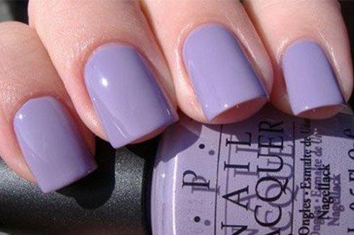 фиолетовый дизайн коротких ногтей осень 2013 фото