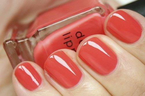 красный дизайн коротки ногтей осень 2013 фото