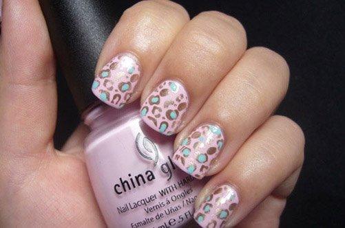 леопардовый дизайн коротких ногтей осень 2013 фото