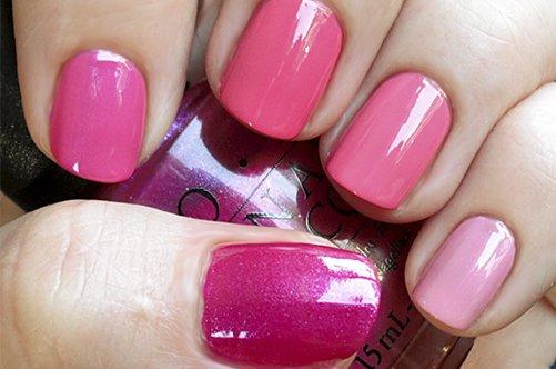 розовый дизайн коротких ногтей осень 2013 фото