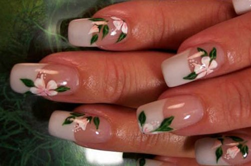 дизайн ногтей свадебный френч фото